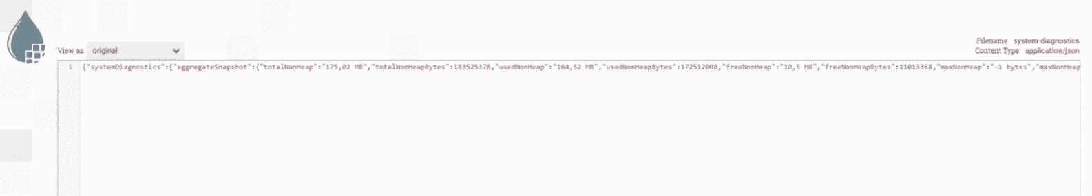 Un Json recupere depuis le serveur Web par Apache NiFi