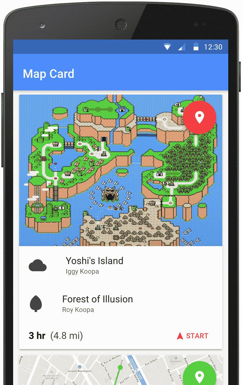Framework IONIC // Exemple de Map Card